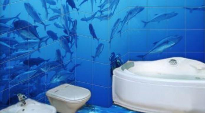 плитка для ванной комнаты дельфины фото дизайн